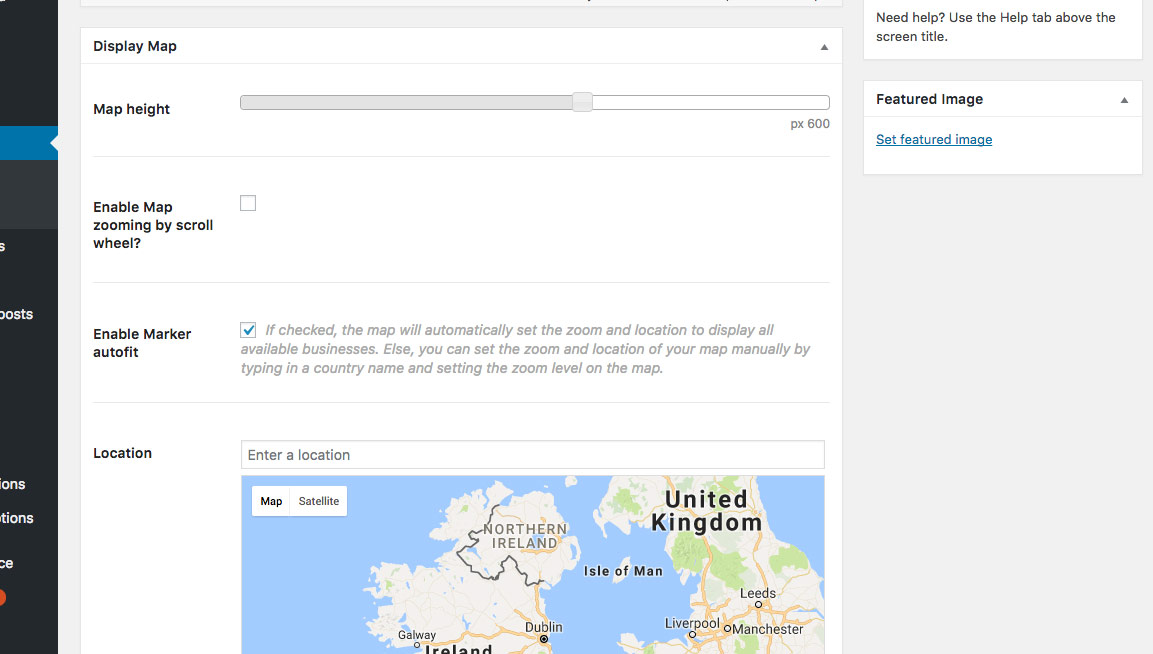 page-listing-map-settings